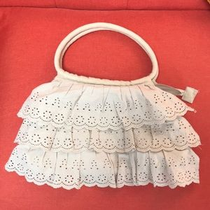Vintage Eyelet Ruffle Purse Bag